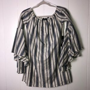 NWT Lulu's bell sleeve striped tunic